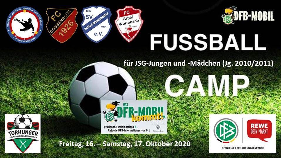 Fussball-Camp für Mädchen und Jungen am 16./17. Oktober